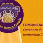 COMUNICADO: Comienzo de la temporada 2020-2021