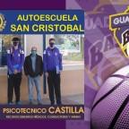 Autoescuela San Cristóbal y Psicotécnico Castilla colaboradores de Guadalajara Basket