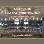 Este es el calendario de nuestro equipo EBA para la temporada 21-22.